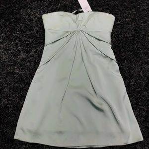 $280 BCBGMAXAZRIA willow green Strapless dress 0